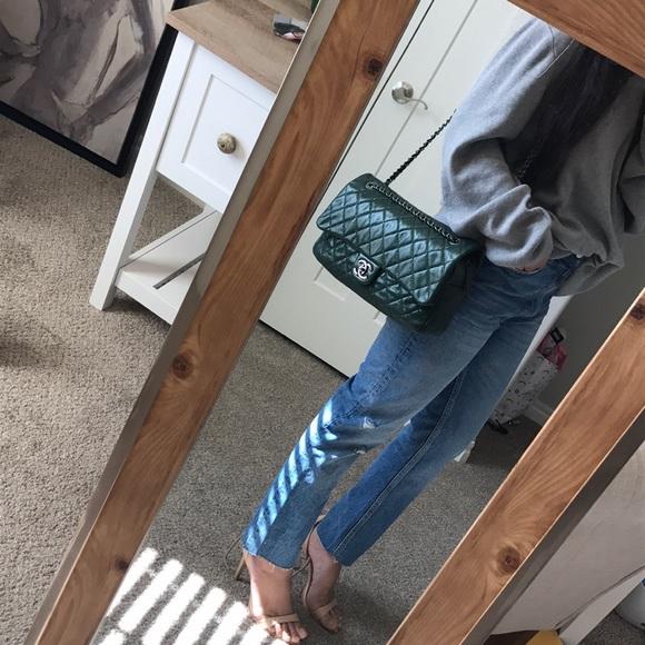 326114c616f6ff CHANEL Handbags - Authentic gorgeous green CHANEL
